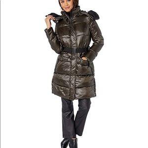 Sam Edelman 3/4 Hooded Puffer Coat NWT